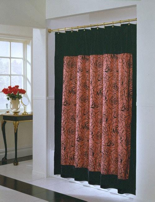 Shop Rosie Embroidered Velvet Shower Curtain