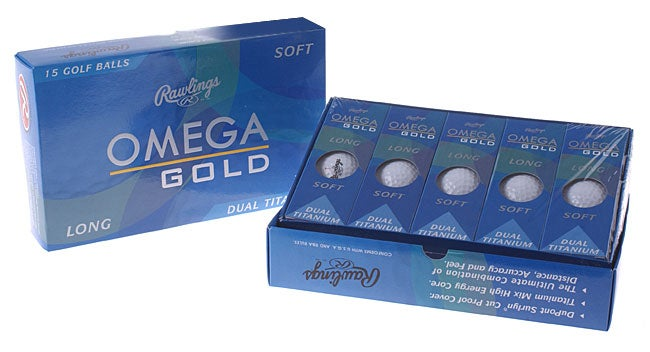 Rawlings Omega Gold Golf Balls (Set of 30)