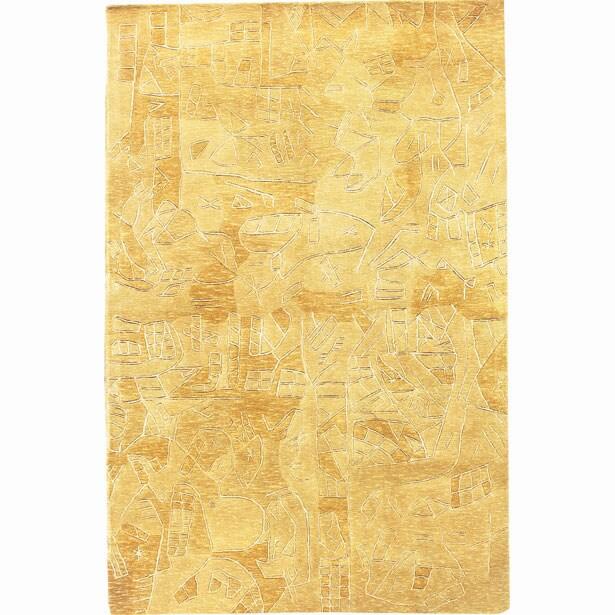 Nourison Hand-tufted Kalahari Gold Wool Rug (3'9 x 5'9)