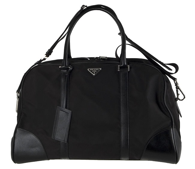 Shop Prada Black Large Nylon Duffel Bag - Free Shipping Today - Overstock -  2449191 2fc55a6b895e8