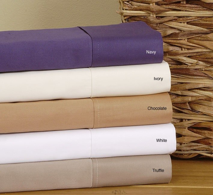 650 Thread Count Combed Cotton Sateen Sheet Set