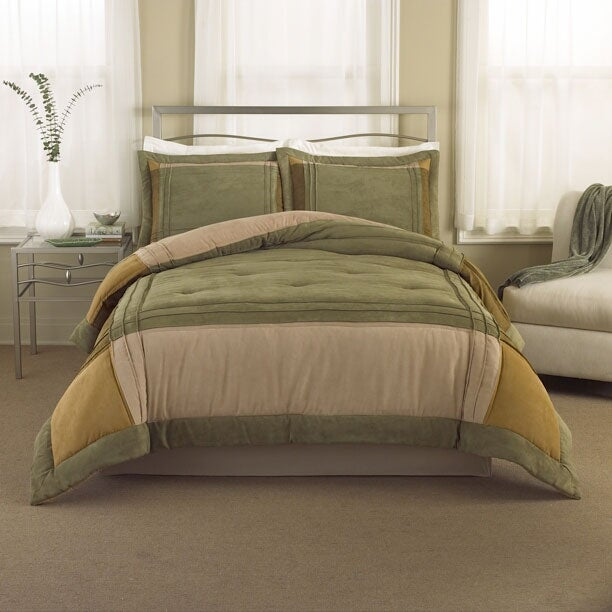 Mansfield Sage Bedding Ensemble with 230tc Sheet Set