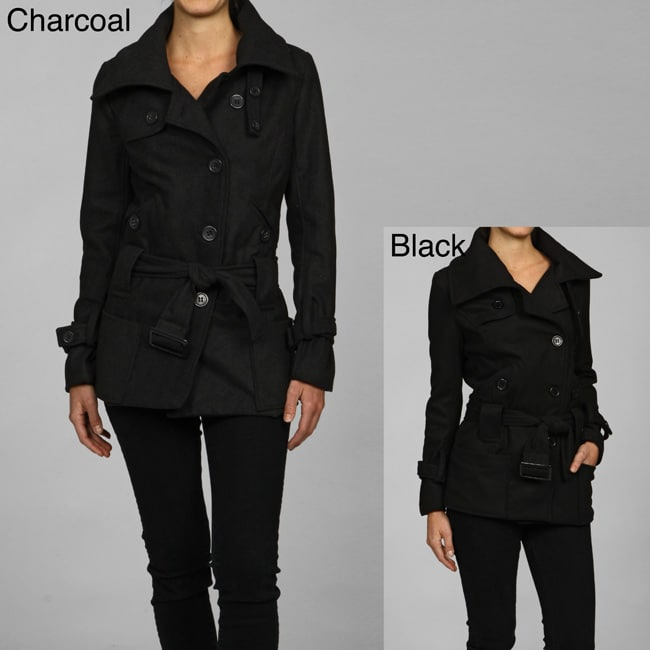 c074242b66 Shop CoffeeShop Belted Wool Jacket - Free Shipping On Orders Over $45 -  Overstock - 2454002