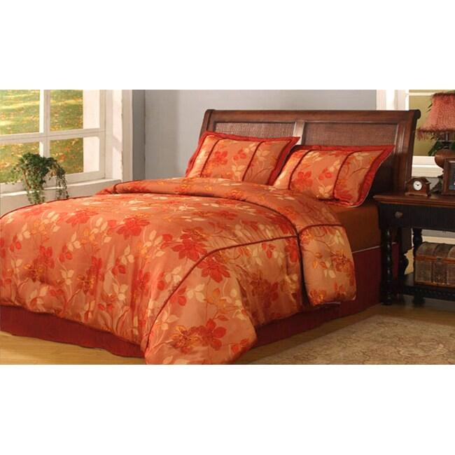 Marietta 4-piece Red Comforter Set