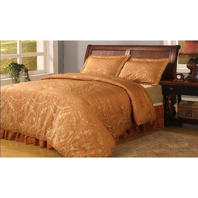 Halifax 4-piece Rust Comforter Set