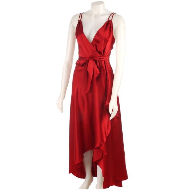 ecd22c1ff96 Shop BCBG Max Azria Long Textured Silk Wrap Dress - Free Shipping ...