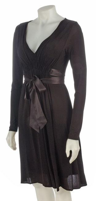 BCBG Max Azria Long Sleeve Ruched Dress