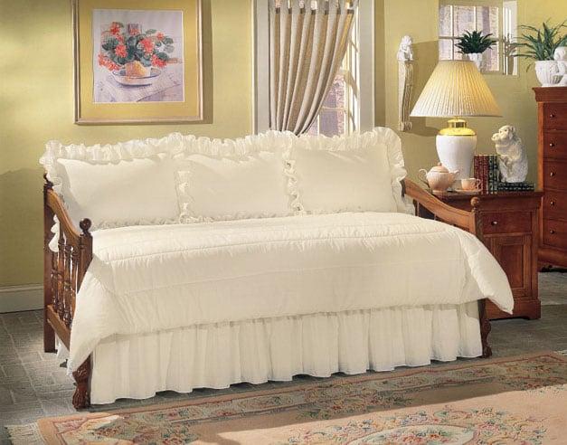 Eyelet Beige Daybed 5-piece Comforter Set