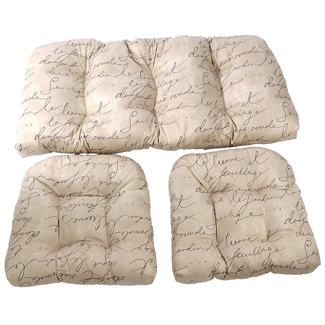 Script Wicker Sette 3-piece Cushion Set
