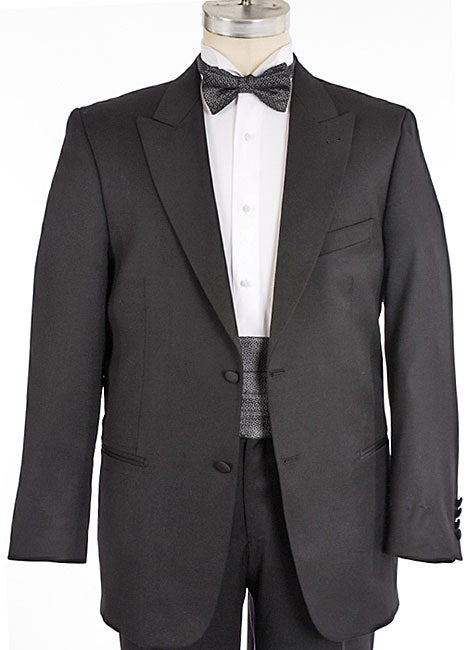 81c0625a44b Shop Joseph Abboud Black Tie 2-button Peak Lapel Tuxedo - Free Shipping  Today - Overstock - 2461070