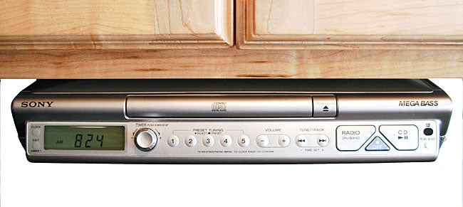 sony kitchen radio under cabinet sony cabinet 4 band cd kitchen clock radio 26482