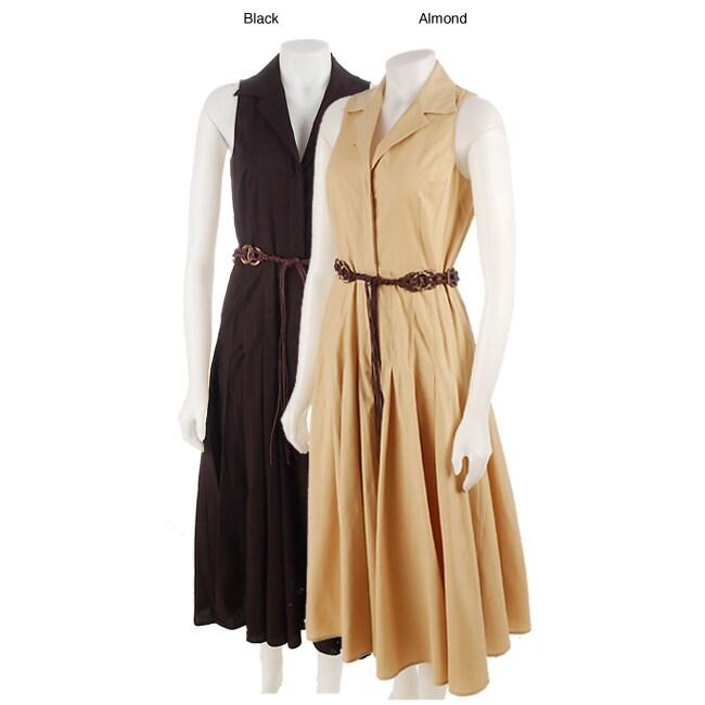 Famous NY Maker Dress Sleeveless Shirt Dress
