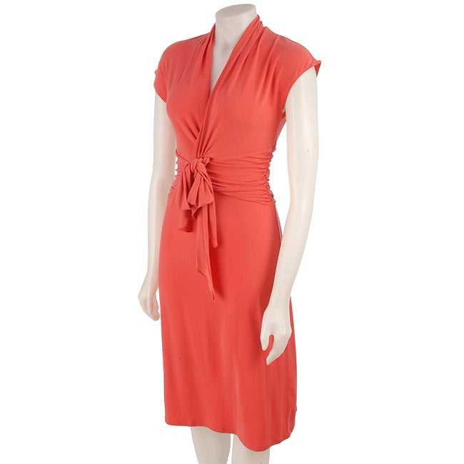 Max & Cleo Jersey Knit Wrap Dress - Free Shipping Today ...