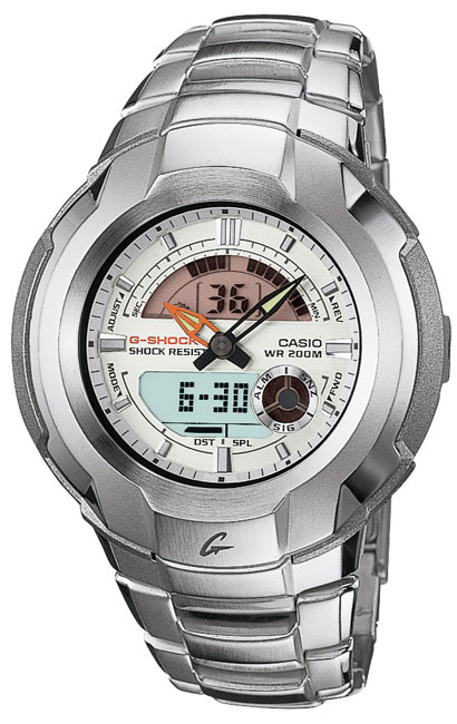 d1462aa6e Shop Casio Silver Analog/ Digital G-Shock Men's Watch - Free Shipping Today  - Overstock - 2466562