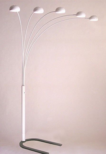 Shop Mushroom 5 Light Arc Floor Lamp Free Shipping Today