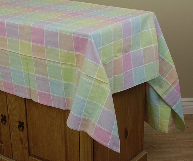 Spring Check Tablecloth And Napkin Set