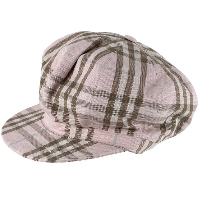 Shop Burberry Women s Nova Check Newsboy Hat - Free Shipping Today -  Overstock - 2477641 e949d16767e2