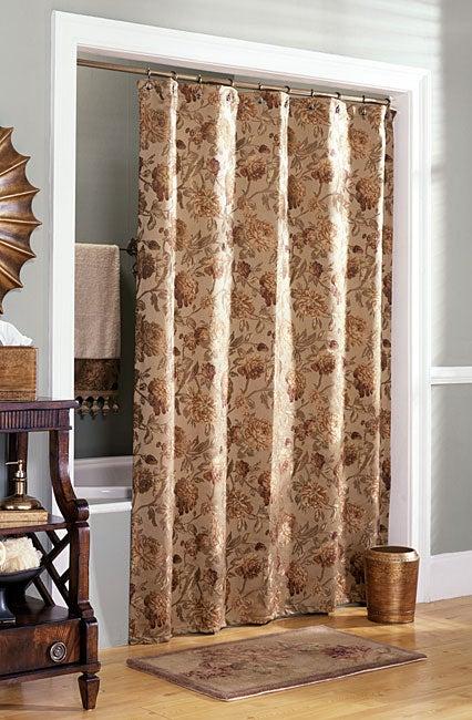 Croscill Harvest Manor Gold Shower Curtain - Croscill Harvest Manor Gold Shower Curtain - Free Shipping On