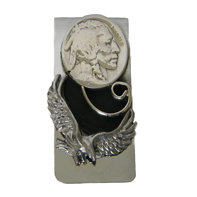 Handcrafted Eagle and Nickel Money Clip (Native American) - Thumbnail 0