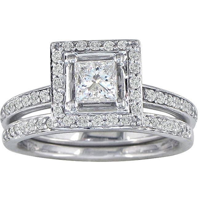 14K White Gold 1ct TDW Princess Diamond Bridal Ring Set (G-H, I1)