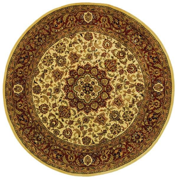 Safavieh Handmade Classic Kerman Ivory Wool Rug (8' Round...