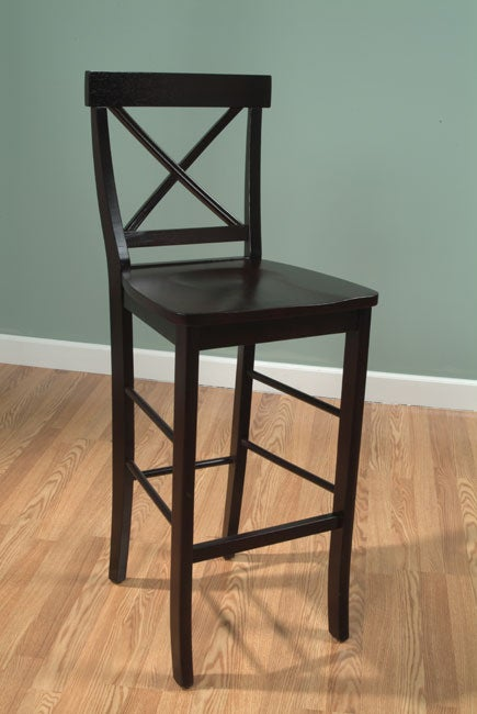 Simple Living Cross Back Bar Stool Free Shipping Today 2481099