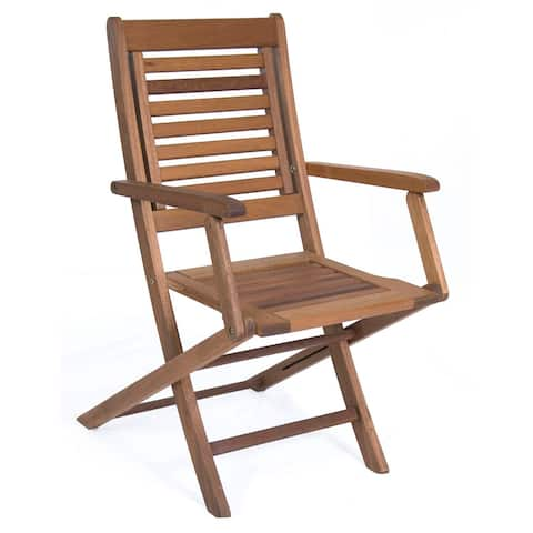 Amazonia Parati Wooden Folding Chair (Set of Two) - N/A