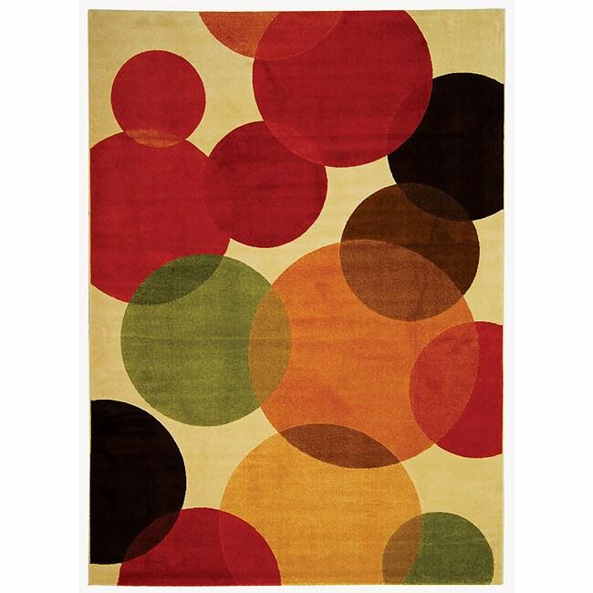 Safavieh Porcello Fine-spun Bubbles Cream/ Multi Area Rug (8' x 11' 2 )