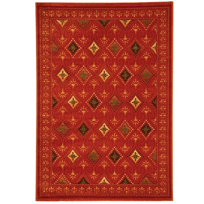 Safavieh Porcello Fine-spun Regal Orange/ Multi Area Rug (4' x 5'7)