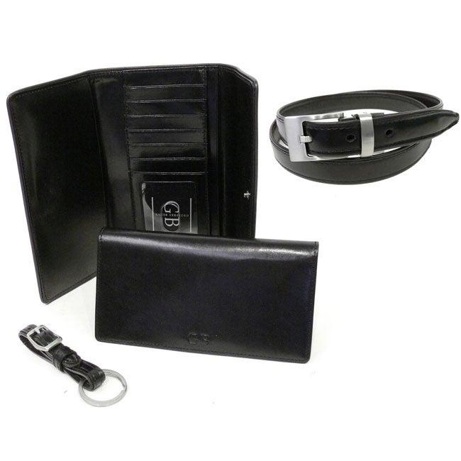 Geoffrey Beene Italian Leather Accessory Gift Set