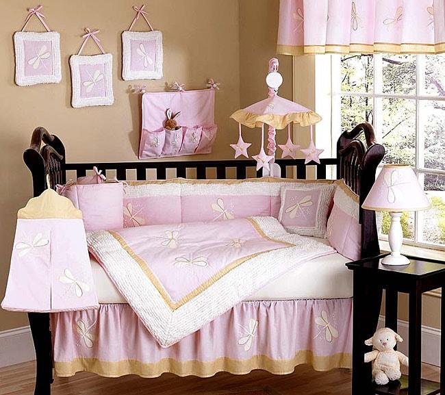 Dragonfly Dreams 12 Piece Pink Crib Bedding Set Free
