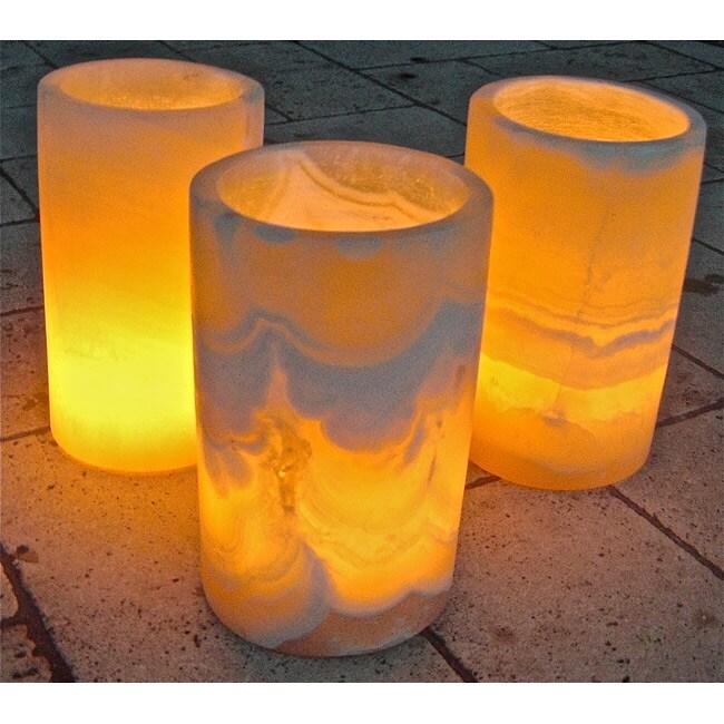 Set of 3 Firenze Votive Candle Holders, Handmade in  , Handmade in Egypt