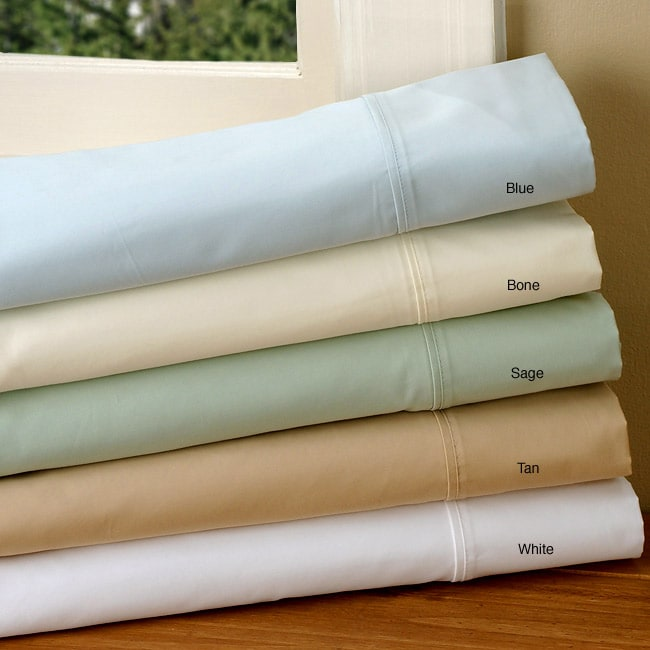 Sateen 600 Thread Count Single Ply Combed Cotton Sheet Set