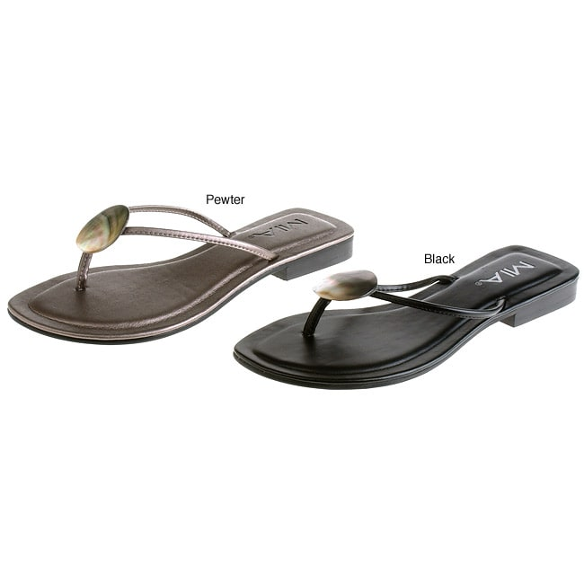 9a7ecb77c23 Shop MIA Shelly Embellished Thong Sandals - Free Shipping On Orders Over   45 - Overstock.com - 2486830