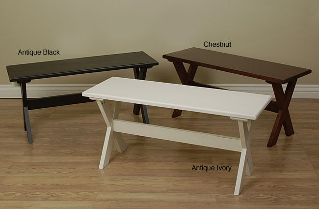 Shop Essex Wood Bench Free Shipping Today Overstock