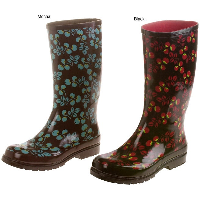 Wonderful Extra Wide Calf Rubber Green Rain Boots For WomenWidest Fit Boots