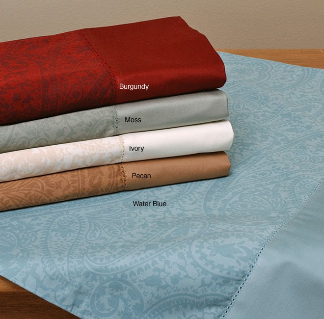Paisley 500 Thread Count Cotton Sateen Sheet Set