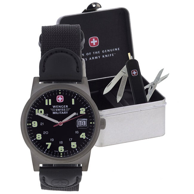 shop wenger men s swiss army knife and watch gift set free