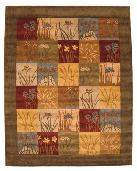 Hand-tufted Wool Ghati Rug (8' x 10')