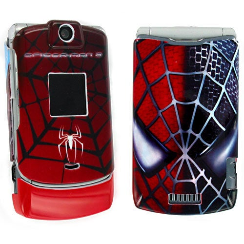 Motorola Razr V3  Spiderman Protective Cover