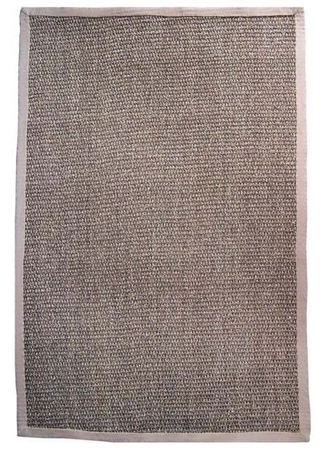 Hand-woven Seagreass Beige Border Rug (8' x 10')