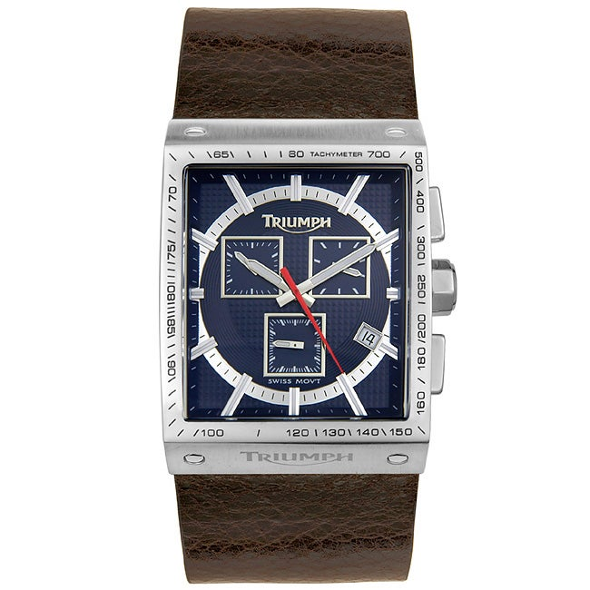 Triumph Motorcycles Chronograph Leather Watch