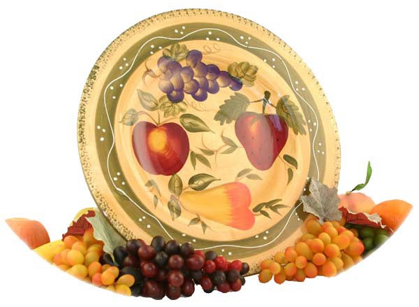 Tuscan Collection Handpainted Serving Platter