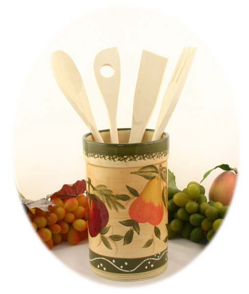 Tuscan Collection Hand-painted Kitchen Tool Set