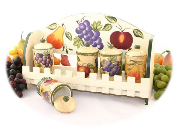 Tuscan Collection Handpainted 5-piece Spice Rack