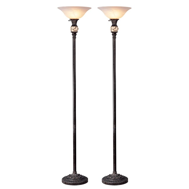 Sevilla Traditional Torchiere Floor Lamp (Set of 2)