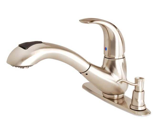 waterridge kitchen pullout faucet & soap dispenser - free shipping