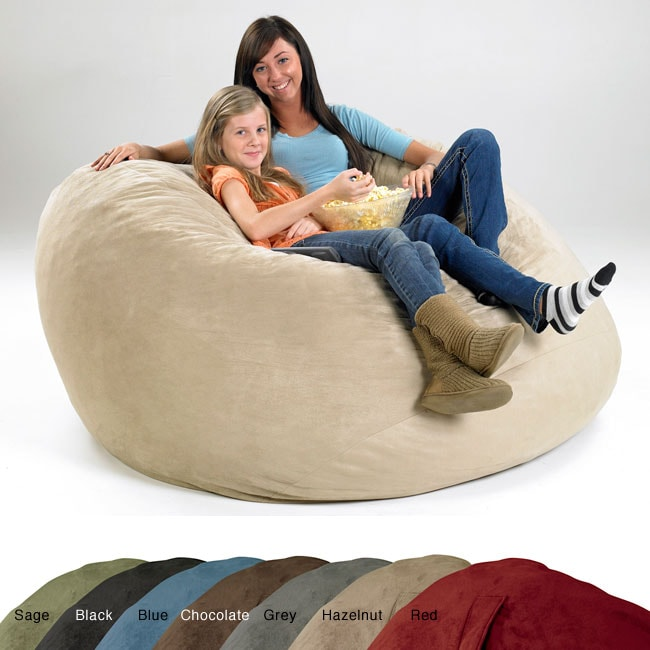 X-large Memory Foam Lounge Bag with Removable Cover