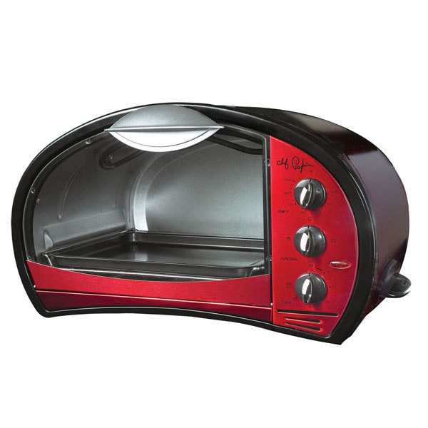 Chef Pepin Red 4-slice Retro Toaster Oven - Free Shipping Today - Overstock.com - 10738115