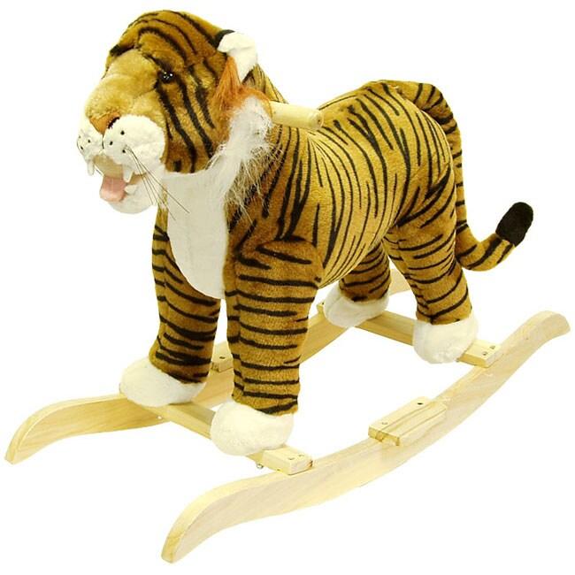 Plush Children's Rocking Tiger